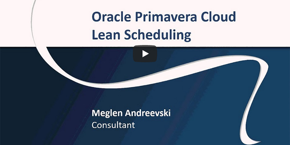 Oracle Primavera Cloud Lean Scheduling